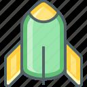 rocket, ship, space, spaceship, transport, transportation icon