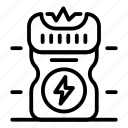 electro, policeman, shocker, thin, vector, yul894 icon