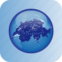country, europa, europe, map, maps, regions, switzerland icon