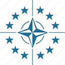 army, label, nato, sign, star, world icon