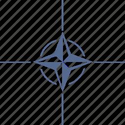 label, nato, organization, star icon