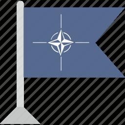 country, flag, nato, organization, pointer icon