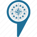 label, map, nato, point, pointer, world icon