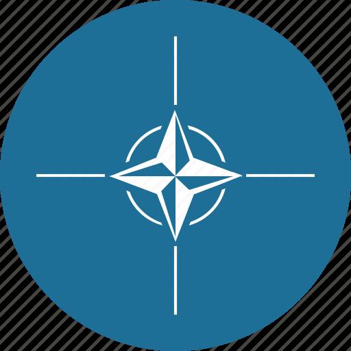 army, label, nato, round, world icon