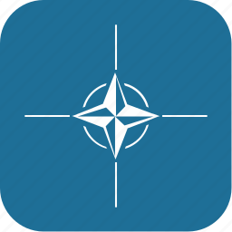 army, nato, organization, politic, square icon