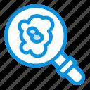 pollution, research, search icon