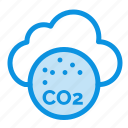 air, carbone, co2, dioxide, pollution icon