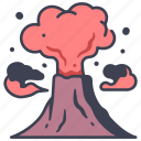 disaster, eruption, explosion, pollution, volcanic, volcano icon