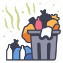dirty, garbage, junk, litter, pollution, smell, trash icon