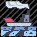 environment, fuel, ocean, pollution, sea, ship, water