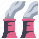 energy, factory, nuclear, plant, pollution, power icon