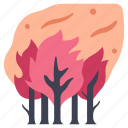 danger, disaster, environment, nature, pollution, smoke, wildfire icon