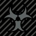 biohazard, biological, danger, hazard, pollution, sign icon