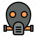 gas mask, mask, pollution, protect, smoke, toxic icon