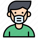 mask, patient, pollution, protect icon