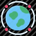 earth, globe, pollution, space debris, space junk icon