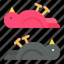 animal, bird, death, pollution icon