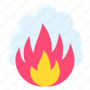 burn, fire, pollution, smoke icon