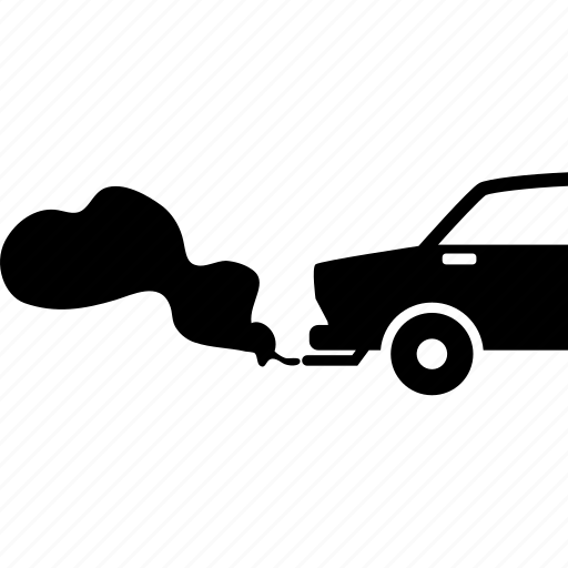 car, carbon dioxide, exhaust pipe, gas, pollution, smoke, vehicle icon