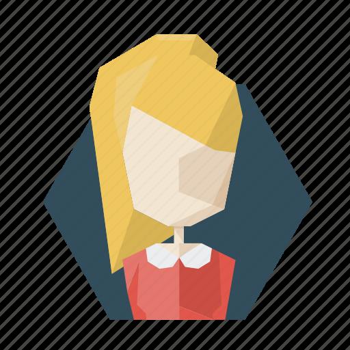 avatar, avatars, blonde, dress, girl, profile, teenager icon