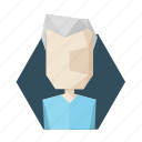 avatar, grandfather, grey, hair, old, profile icon