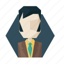 avatar, avatars, boss, jacket, sideburns, suit icon