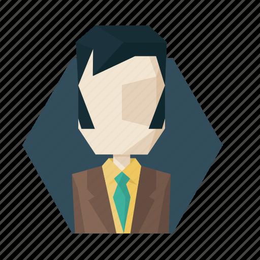 avatar, avatars, boss, jacket, sideburns, suit icon
