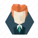 avatar, avatars, manager, poligon, profile, suit, tie icon