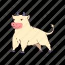 animal, cow, ox, bull, nature