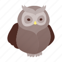 animal, bird, halloween, horror, night, owl, wise icon
