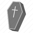burial, coffin, creepy, funeral, grave, halloween, horror icon