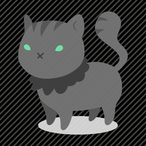 cat, evil, feline, halloween, horror, kitten, witch icon