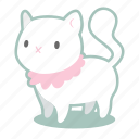 angelic, cat, feline, horror, kitten, white, witch icon