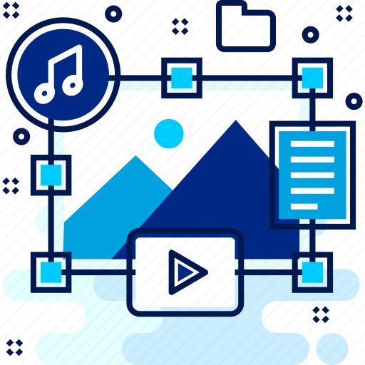 content, gallery, music, pictures, song icon