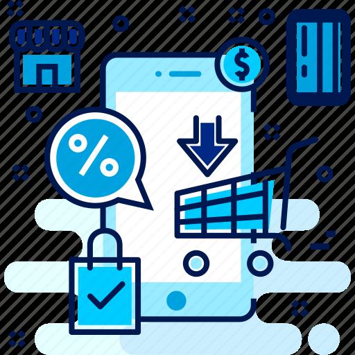 buy, cart, mobile, purchasing, shop, shopping icon
