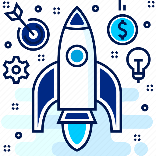 launch, missile, rocket, space, startup icon