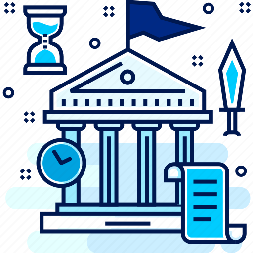ancient, bank, financial, history, institution, old, premises icon