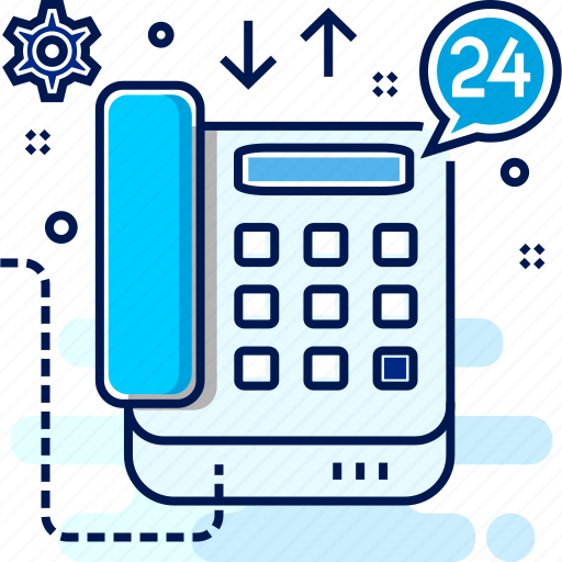 call, contact, helpline, hotline, setting, telephone icon