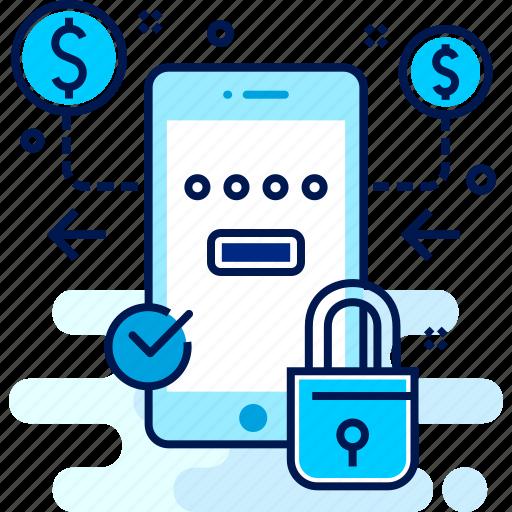 details, lock, login, money, password, userid icon