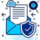antivirus, document, letter, protected, secured icon