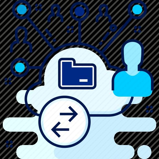 cloud, host, hosting, server, user icon