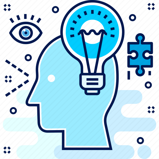 brain, creative, creativity, defining, idea, light, solution icon