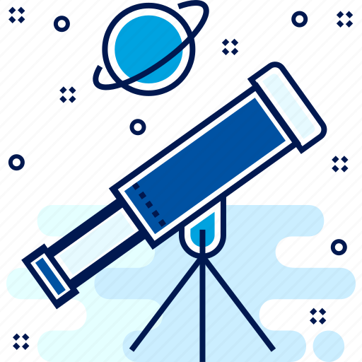 Binocular, astronomy, spaceship, astronout, space icon