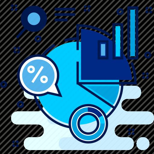 chart, design, diagram, pie, statistics icon