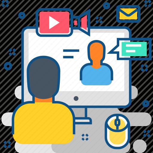 commerce, courses, ecommerce, internet, online, training, web icon