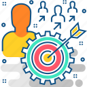 aim, board, creative, dart, design, success, users icon