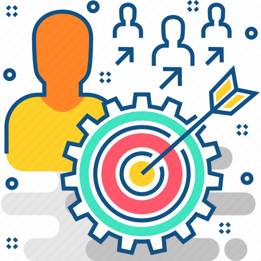 aim, board, creative, dart, design, success, users icon