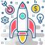 launch, project, rocket, security, start up, startup icon
