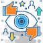 discuss, eye, like, rating, review, star, view icon