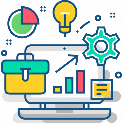 analytics, business, chart, development, graph, marketing, office icon